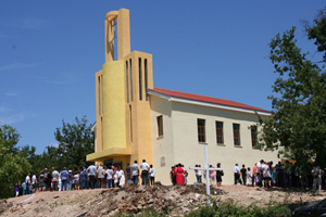 Die wieder aufgebaute Kirche in Stjepan Krst
